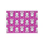 Kawaii Pink Bunny Pattern 5'x7'Area Rug