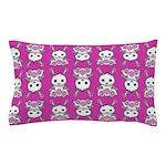 Kawaii Pink Bunny Pattern Pillow Case