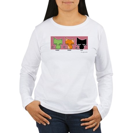 happy.happy.meh version 2! Long Sleeve T-Shirt
