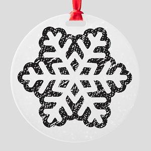 Flakey Round Ornament