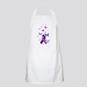 Purple Awareness Ribbon Apron