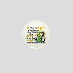 Holiday Penguins Childhood Cancer Mini Button