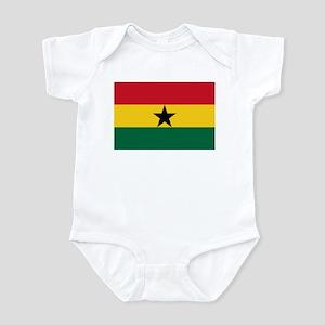 Ghana Flag Picture Infant Bodysuit