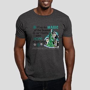 Holiday Penguins Cervical Cancer Dark T-Shirt