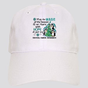 Holiday Penguins Cervical Cancer Cap