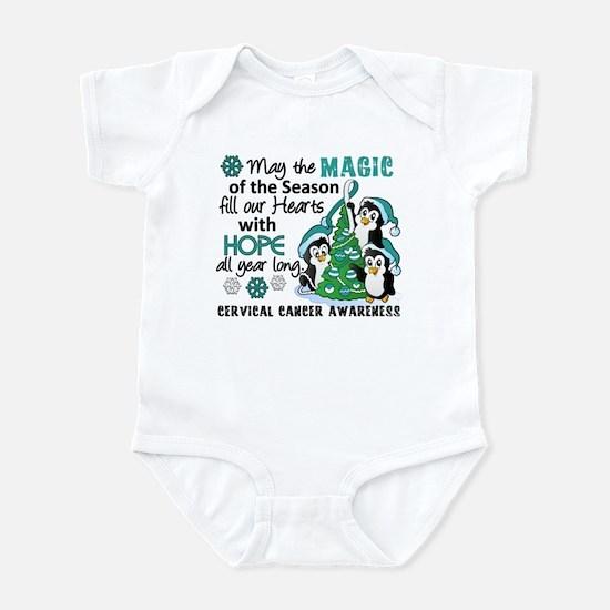 Holiday Penguins Cervical Cancer Infant Bodysuit