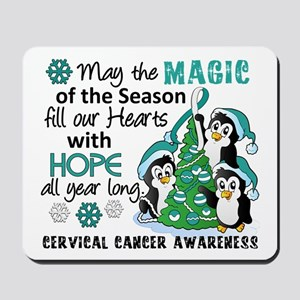 Holiday Penguins Cervical Cancer Mousepad