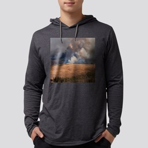 Fire in Yellowstone Mens Hooded Shirt
