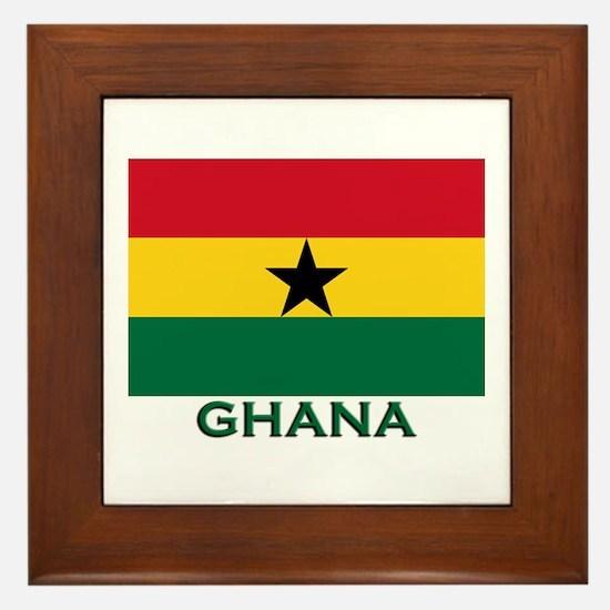 Ghana Flag Stuff Framed Tile