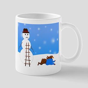 Snowman and Naughty Bunny Mug