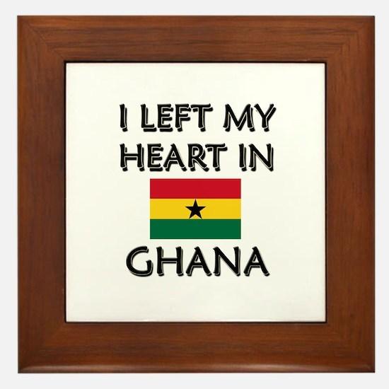 I Left My Heart In Ghana Framed Tile