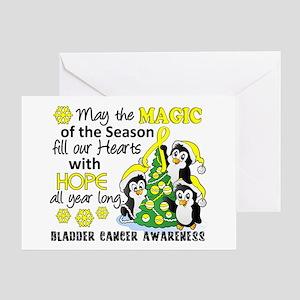 Holiday Penguins Bladder Cancer Greeting Card