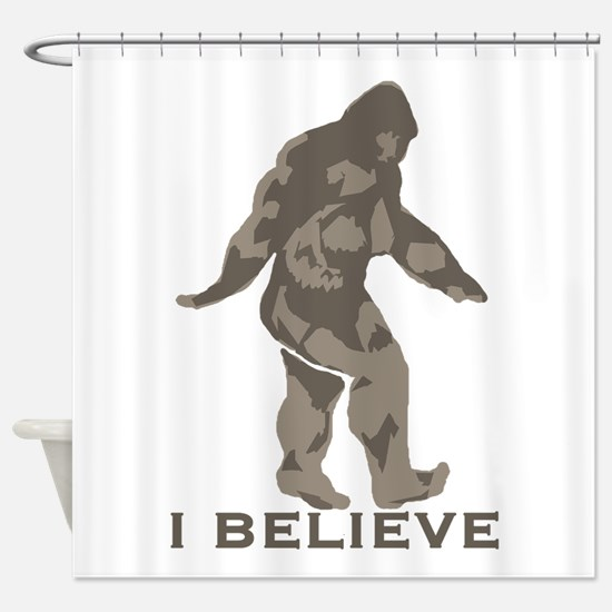 I believe in the Bigfoot Shower Curtain