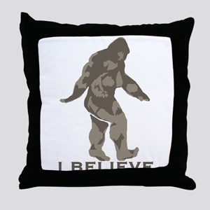 I believe in the Bigfoot Throw Pillow