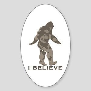 I believe in the Bigfoot Sticker (Oval)