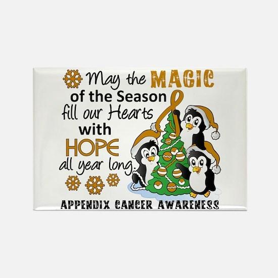 Holiday Penguins Appendix Cancer Rectangle Magnet