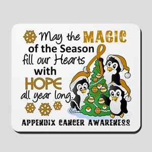 Holiday Penguins Appendix Cancer Mousepad