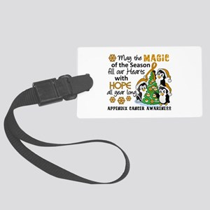 Holiday Penguins Appendix Cancer Large Luggage Tag