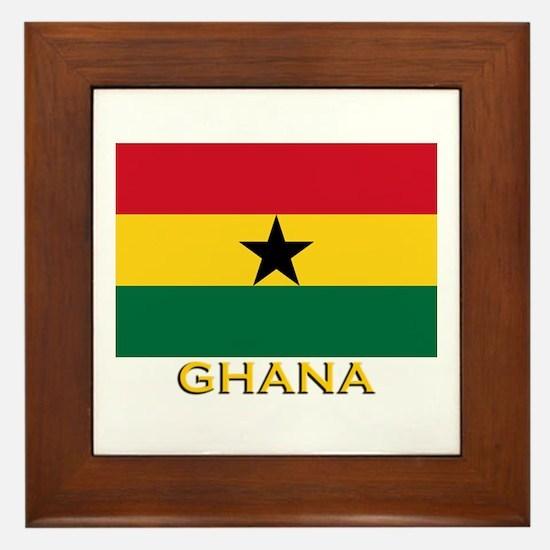 Ghana Flag Gear Framed Tile
