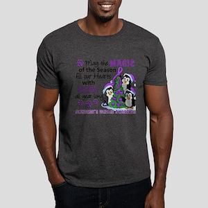 Holiday Penguins Alzheimer's Disease Dark T-Shirt