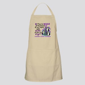 Holiday Penguins Alzheimer's Disease Apron
