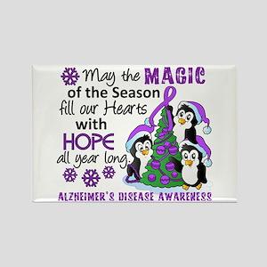 Holiday Penguins Alzheimer's Disease Rectangle Mag