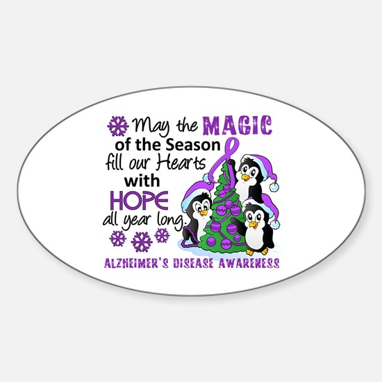 Holiday Penguins Alzheimer's Disease Decal