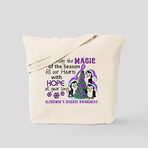 Holiday Penguins Alzheimer's Disease Tote Bag