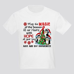Holiday Penguins AIDS and HIV Kids Light T-Shirt