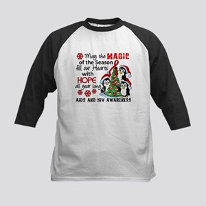 Holiday Penguins AIDS and HIV Kids Baseball Jersey