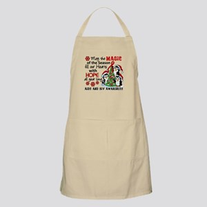 Holiday Penguins AIDS and HIV Apron