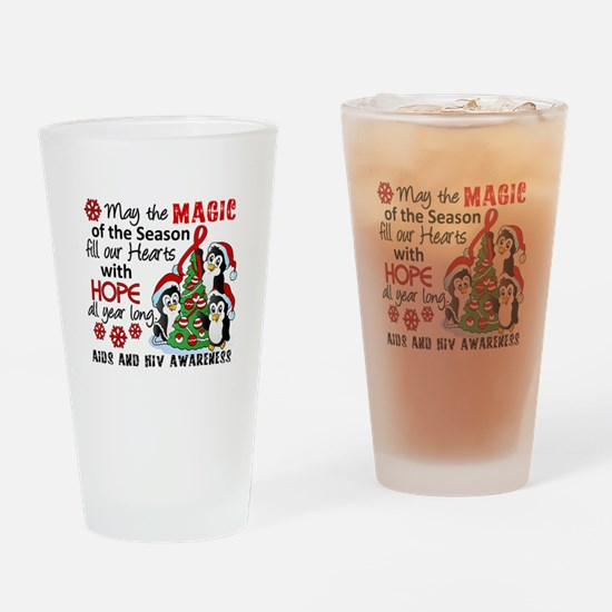 Holiday Penguins AIDS and HIV Drinking Glass
