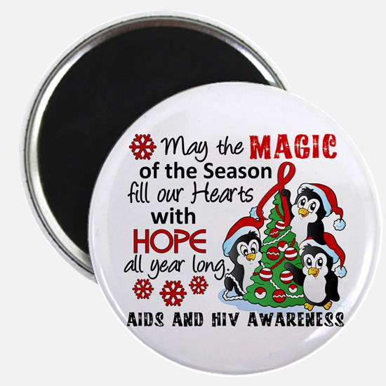 """Holiday Penguins AIDS and HIV 2.25"""" Magnet (10 pac"""