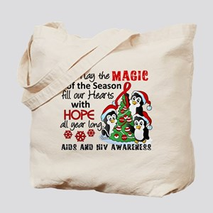 Holiday Penguins AIDS and HIV Tote Bag