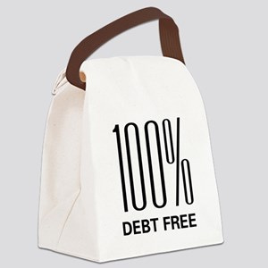 100 Percent Debt Free Canvas Lunch Bag