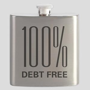 100 Percent Debt Free Flask