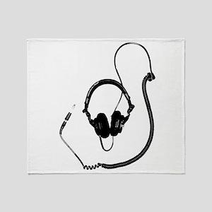 Unique Dj Headphones T Shirt Throw Blanket