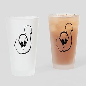 Unique Dj Headphones T Shirt Drinking Glass