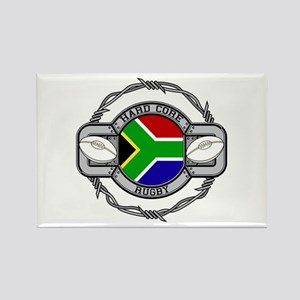Hard Core South Africa Rugby Rectangle Magnet
