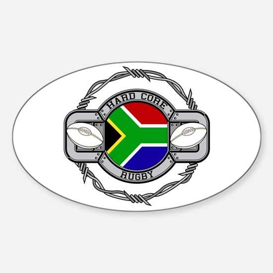 Hard Core South Africa Rugby Sticker (Oval)
