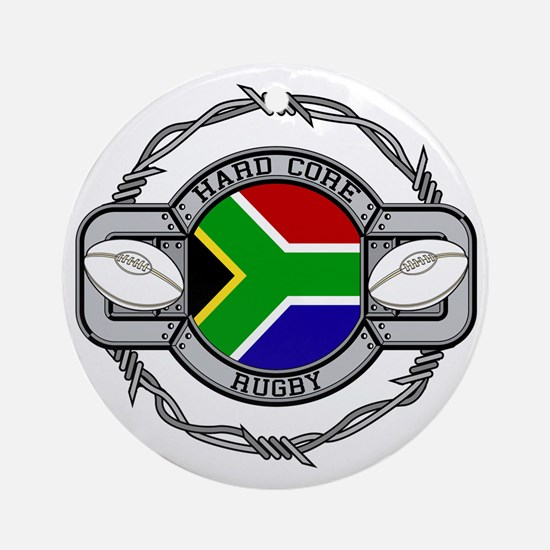 Hard Core South Africa Rugby Round Ornament