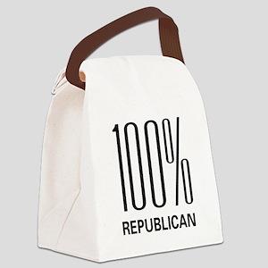 100republican Canvas Lunch Bag