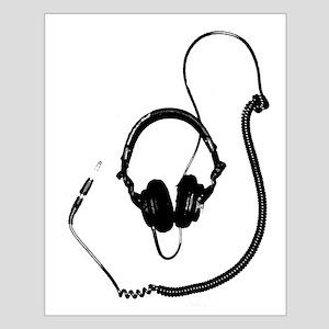 Unique Dj Headphones T Shirt Small Poster