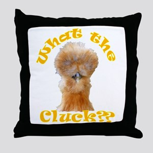 What the Cluck Throw Pillow