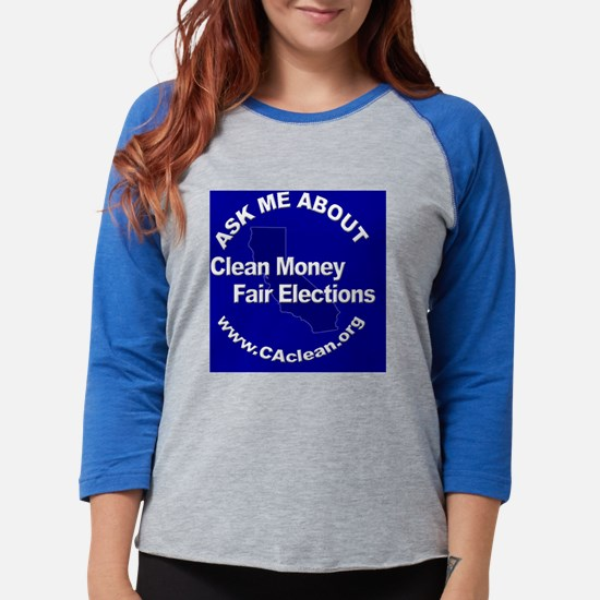 Button_AskMeAboutFairBlue.png Womens Baseball Tee
