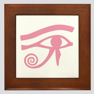 Pink Eye of Horus Hieroglyphic Framed Tile