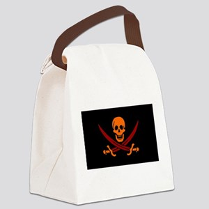 Pirate flag e8 Canvas Lunch Bag