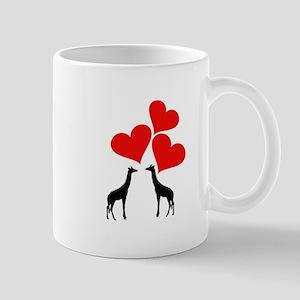 Hearts & Giraffes Mugs