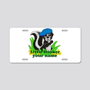 Personalized Little Stinker (Boy) Aluminum License