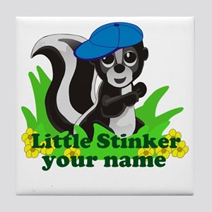 Personalized Little Stinker (Boy) Tile Coaster